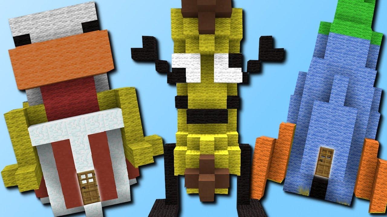 Witzige Base Mit Einem Klick Youtubers Mod Deutsch YouTube - Minecraft hauser mit einem klick mod