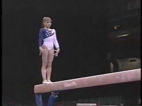 {1996 Atlanta Olympics} Dominique Moceanu Nails her Balance Beam Routine - Team Optionals