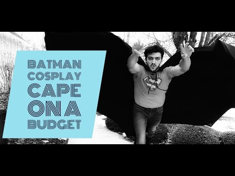 Batman Cosplay Cape On A Budget!