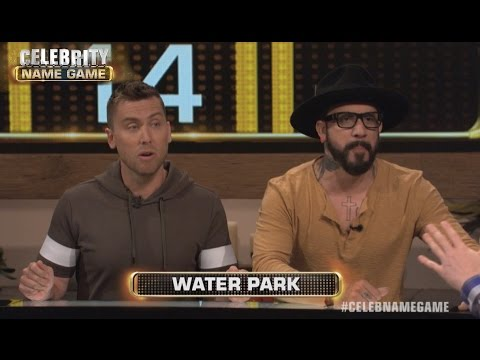 Lance Bass & AJ McLean BIG WIN | Celebrity Name Game