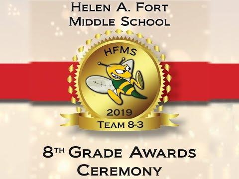 2019 Helen A. Fort Middle School Team Awards 8-3