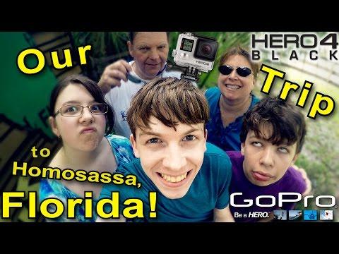My Trip To Florida! - A GoPro Hero 4 Black Edition Documentary (Homosassa, Florida)