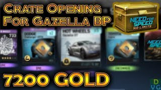 NFS No Limits | 7200 Gold Premium Crate opening for Gazella GT Blueprints !
