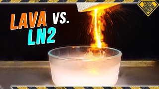 When HOT LAVA meets COLD LIQUID NITROGEN! thumbnail