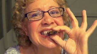 Savage Grandma Eats Bugs