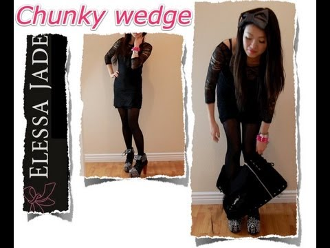 Dressing Room Fashion How To Wear Wedges and Chunky Heels - YouTube