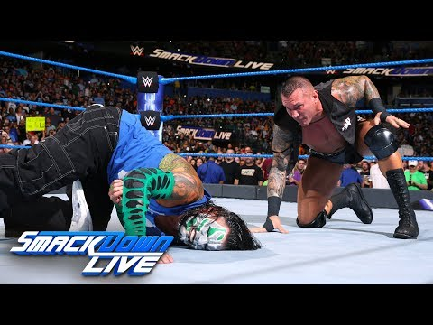 Shinsuke Nakamura and Randy Orton both execute attacks on Jeff Hardy: SmackDown LIVE, July 31, 2018