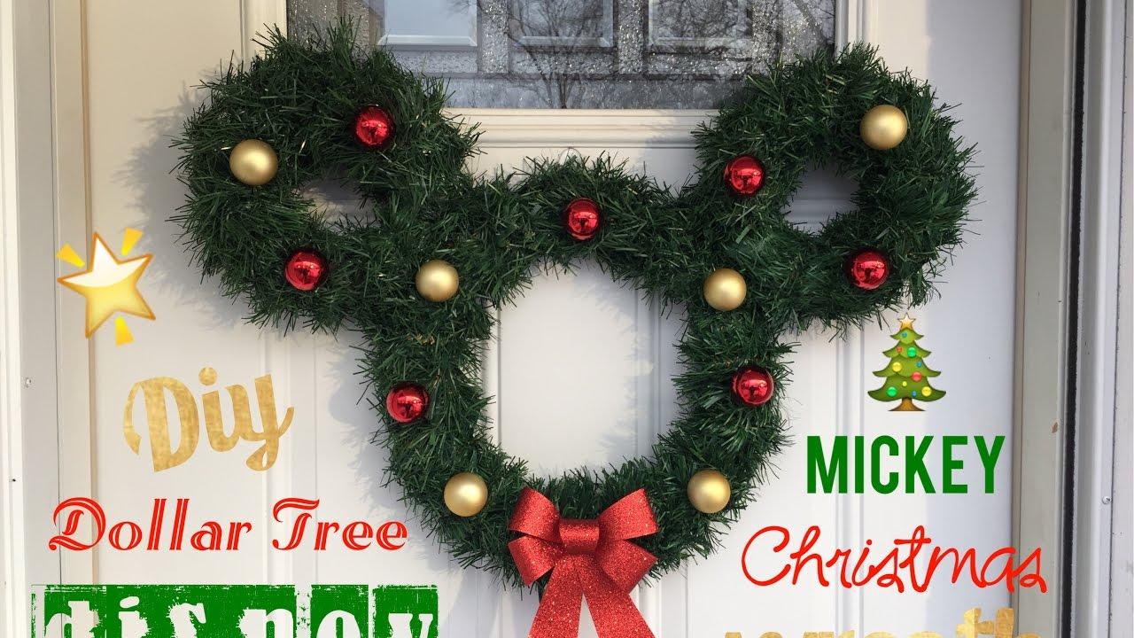 o disney mickey christmas wreath diy dollar tree