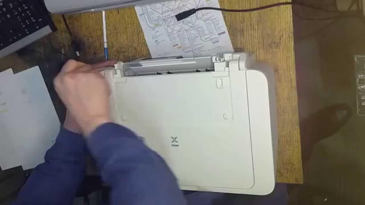 Зажевывает бумагу в принтере canon mp230 16