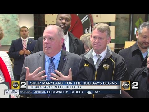 Hogan, Franchot kick off Shop Maryland for the Holidays in Ellicott City