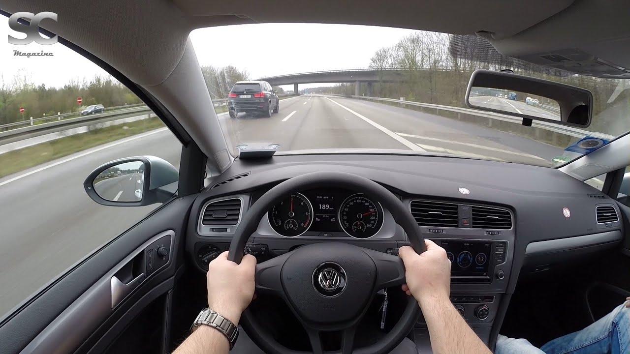 Vw Golf 7 Variant 1 6 Tdi Bluemotion 2016 On German Autobahn Pov Top Sd Drive