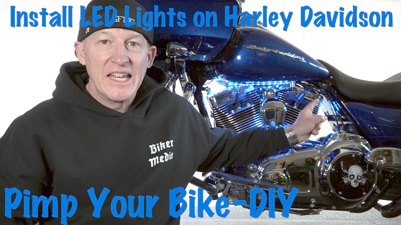 how to install led lights on a harley davidson tutorial guide [ 1280 x 720 Pixel ]