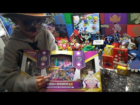 "SUPER MARIO Opens a Mega Diancie ""Princess Peach"" Ex Premium Collection Box and MARIO Mysteries!!!"