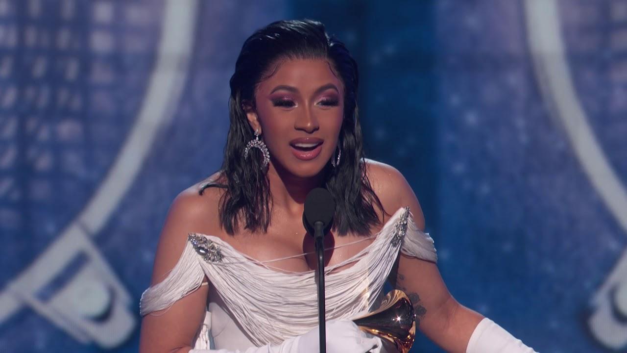 Cardi B Wins Best Rap Album 2019 Grammys Acceptance