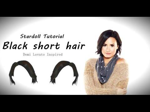 Stardoll Tutorial - Black short hair - Demi Lovato ...