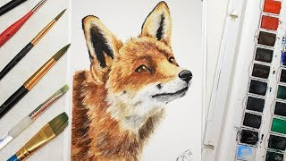This fox was super fun to paint! as soon i got done with his eyes he seemed come life right off the paper!! tried not go into *too* much detail...