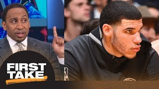 Stephen A. Smith calls Lonzo Ball saying nothing to LaVar