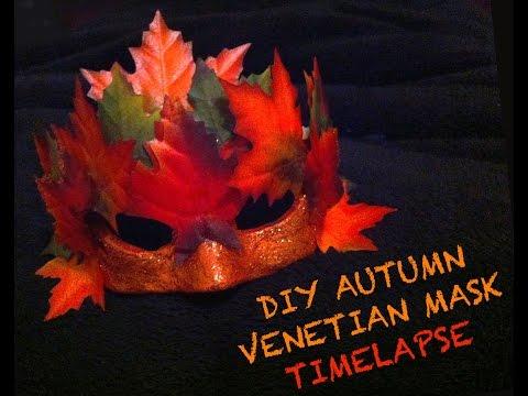 DIY Autumn Venetian Mask- Timelapse
