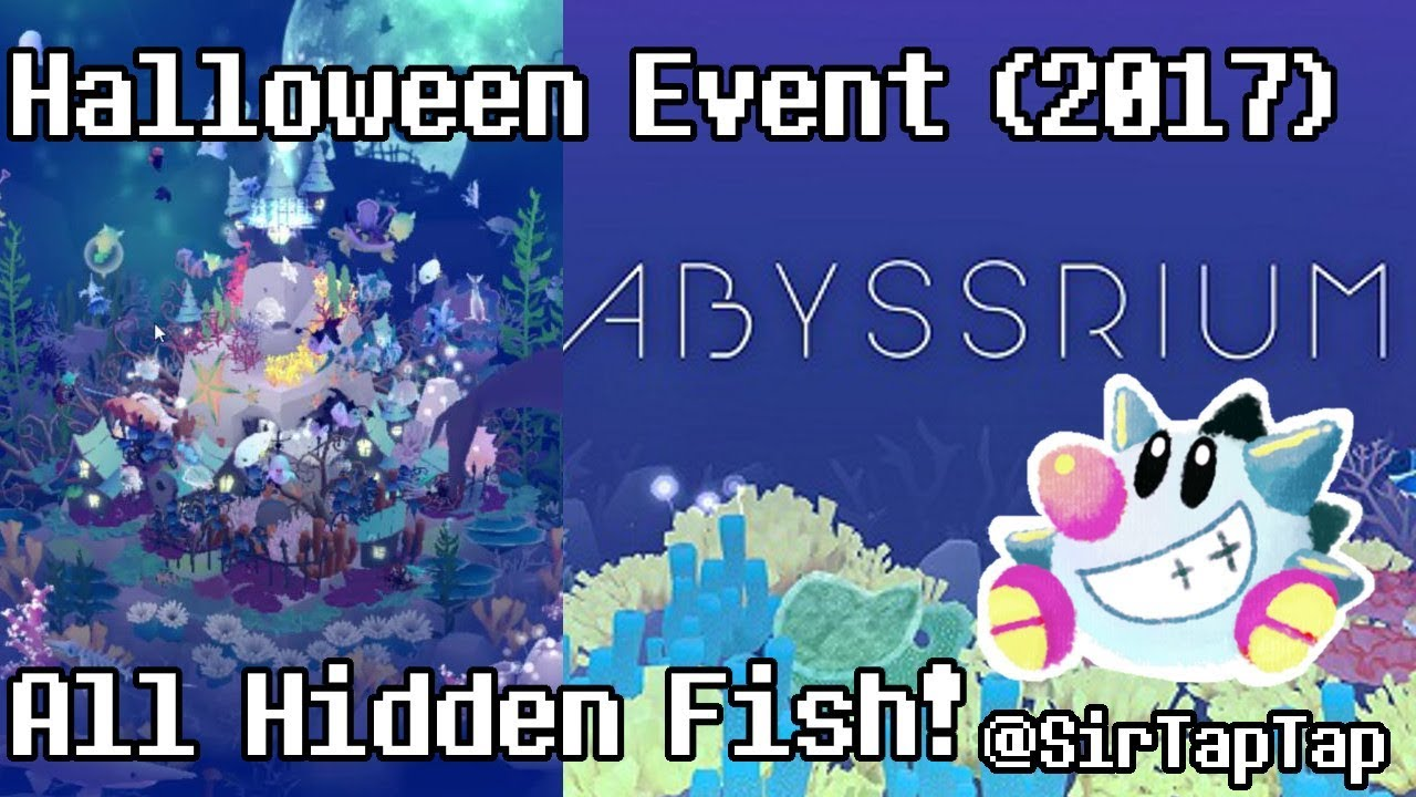 Tap tap fish abyssrium halloween event 2017 all hidden for Tap tap fish all hidden fish