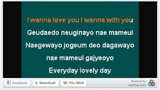 Lovely day - Park Shin Hye - Karaoke Trắng Đực Trỏn