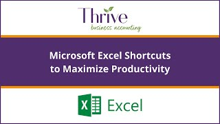 Excel Shortcuts to save yourself time and become more efficient - Productivity