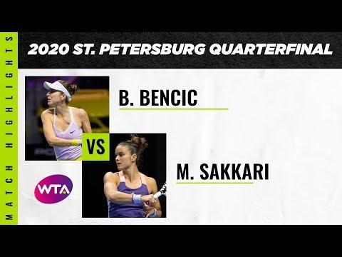 WTA Premier St. Petersburg QF | Belinda Bencic vs. Maria Sakkari | Highlights