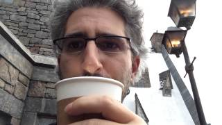 First taste of warm Butterbeer at Universal Orlando's Wizarding World of Harry Potter