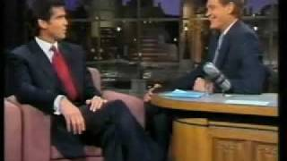 Pierce Brosnan onLetterman  5 /16 /95