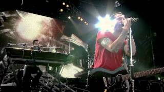 "Linkin Park performing ""Iridescent"" live in Red Square in Moscow fo..."