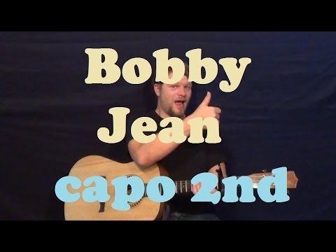 Bobby Jean Bruce Springsteen Easy Guitar Lesson Strum Chord Licks