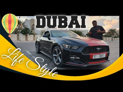 Dubai Luxury Lifestyle || Dubai Dream City || Mustang in Dubai || Driving Sports Car || I Love Dubai
