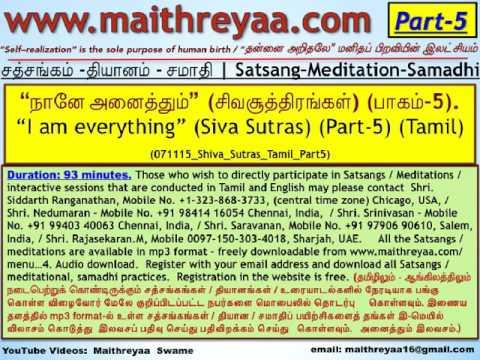 """I am everything"" (Shiva Sutras P-5) (Tamil). ""நானே அனைத்தும்"" (சிவசூத்திரங்கள்-பாகம்-5) (HwST00135)"