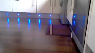 Led plinth lights in kitchen
