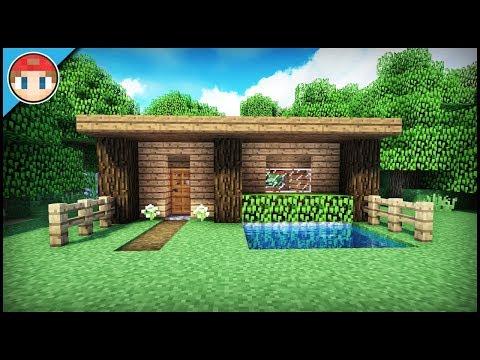 The Best Starter/Survival House For Beginners! - Minecraft Tutorial (EASY!)