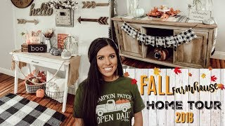 FALL DECORATE WITH ME | Fall Farmhouse Home Tour 2018!