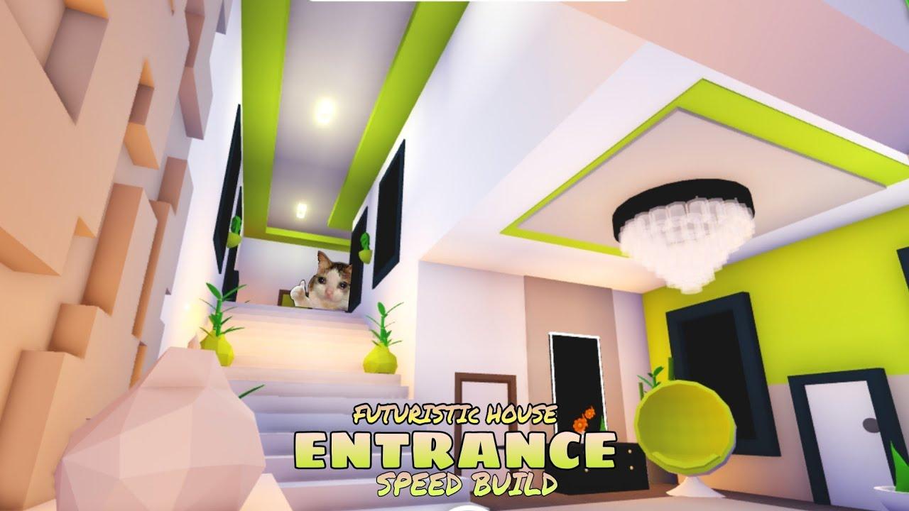 Adopt Me Futuristic House Speed Build Ideas Entrance Youtube