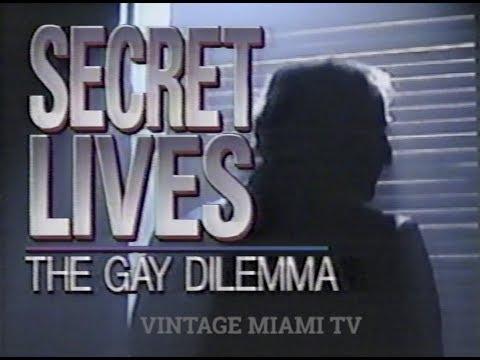 "1990 ""SECRET LIVES -THE GAY DILEMMA"" - CBS 6 MIAMI NEWS"