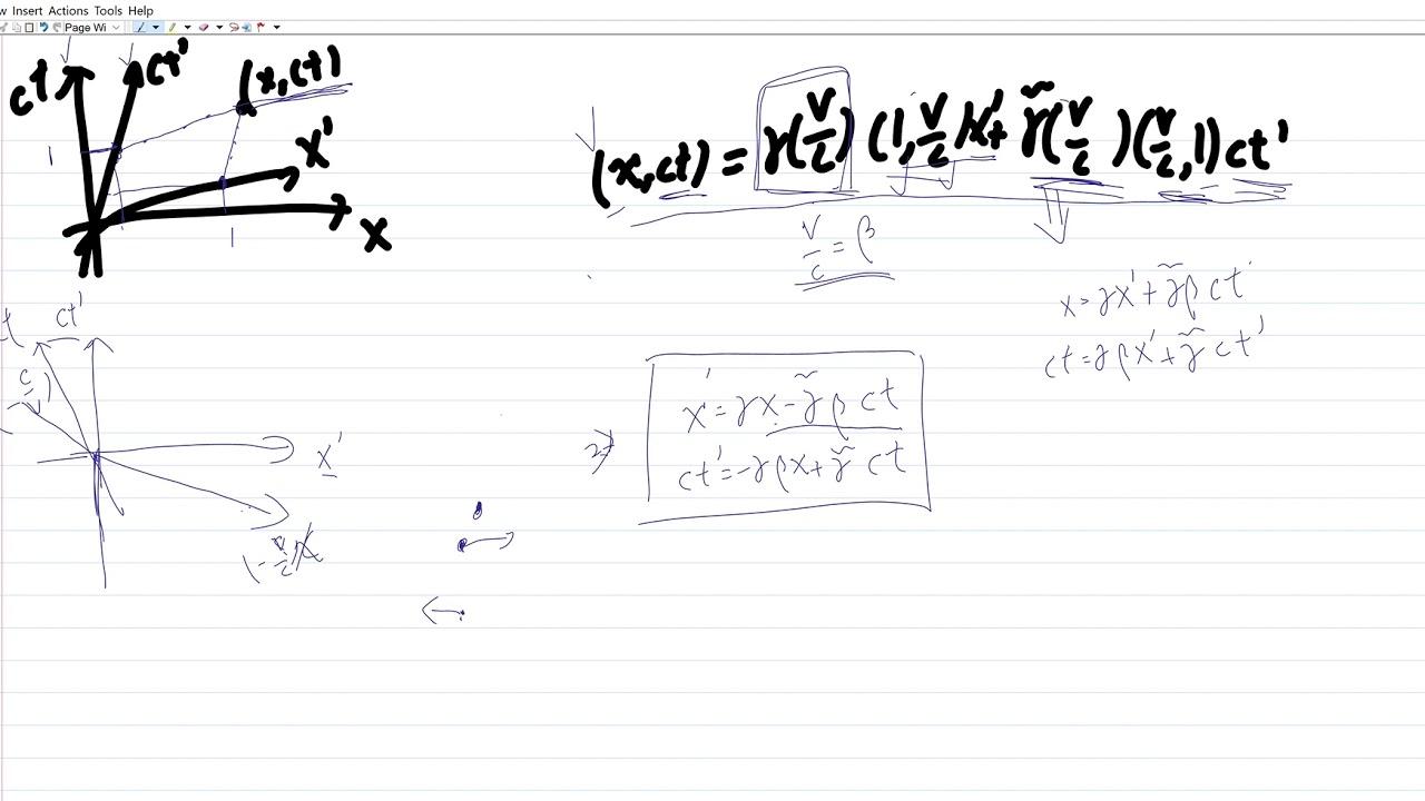 相對論-勞倫茲變換(二) - YouTube