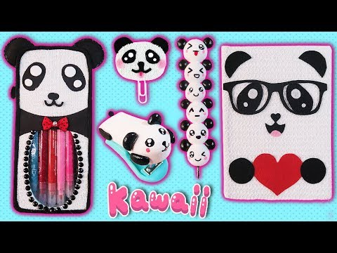 DIY: CUTE PANDA SCHOOL SUPPLIES BACK TO SCHOOL