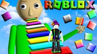 I Survived My First Baldi School Obby in Roblox!