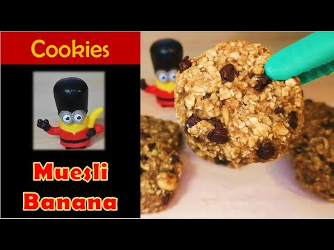 cookies-moelleux-muesli-bananes-pépites-de-chocolat---recette-rapide--sans-oeuf