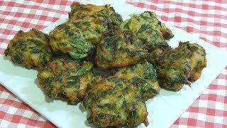 Como hacer bunuelos de acelga Receta muy facil y deliciosa