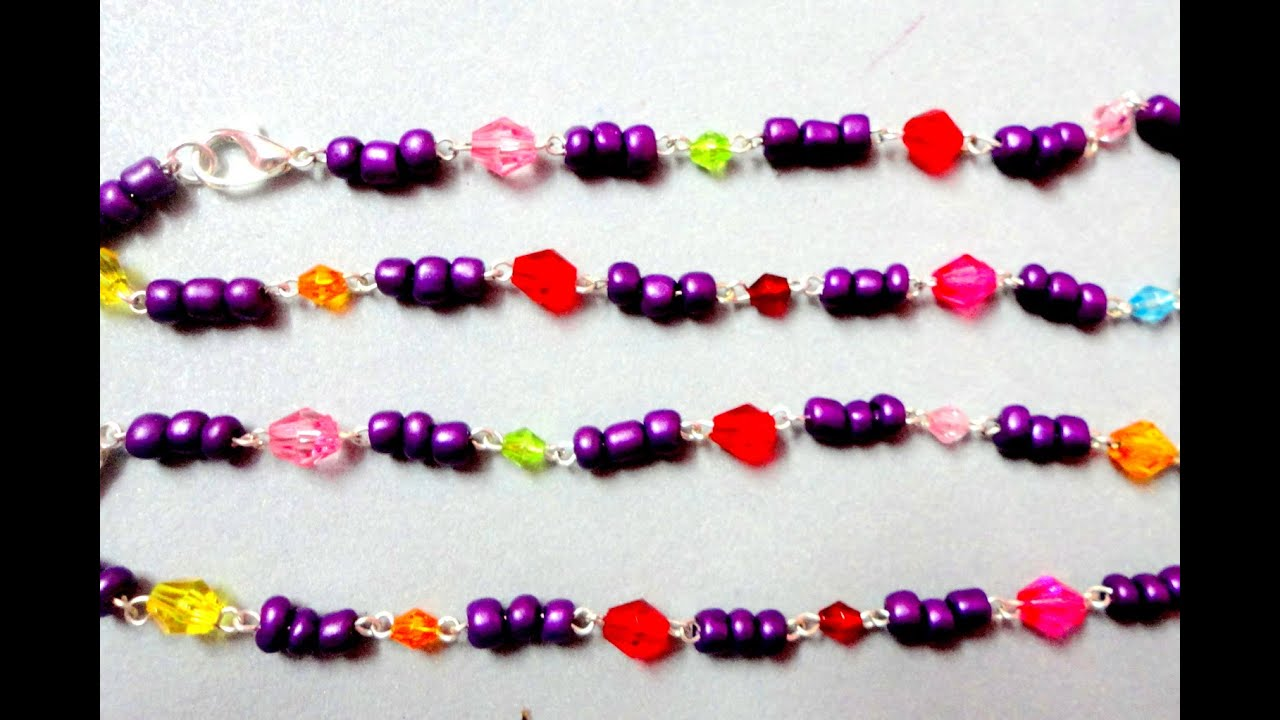 How To Make Anklet / Payal with Beads at Home - YouTube