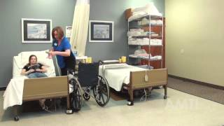 CNA Skill: Pivot Transfer From Bed to Wheelchair