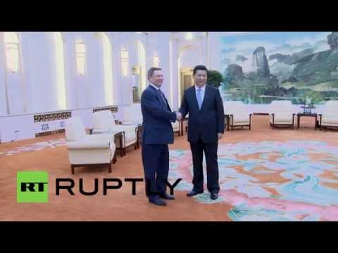 China: Xi Jinping welcomes Russian presidential administration head Sergei Ivanov to Beijing