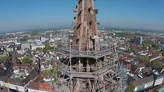 Das Freiburg Münster aus der Vogelperspektive