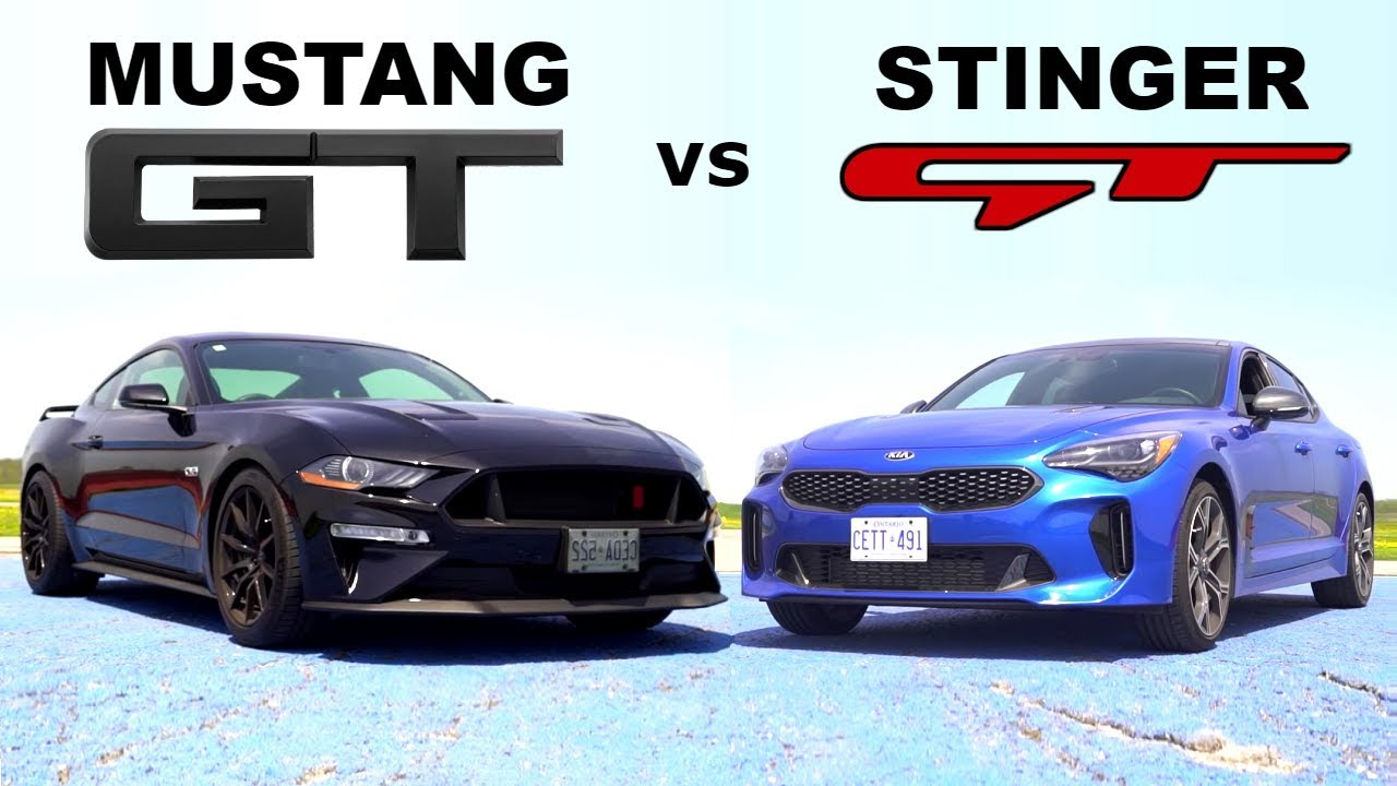 Kia stinger gt vs mustang gt 10 speed track review lap times and drag race