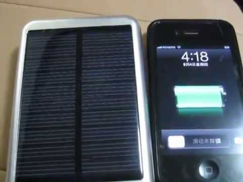 How to use  Solar Panel Power Bank charge to the phone