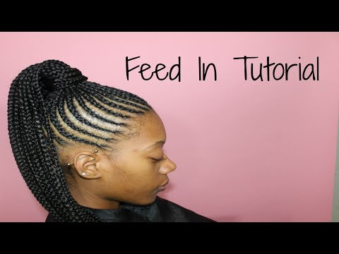 Feed In Ponytail on Short Natural Hair