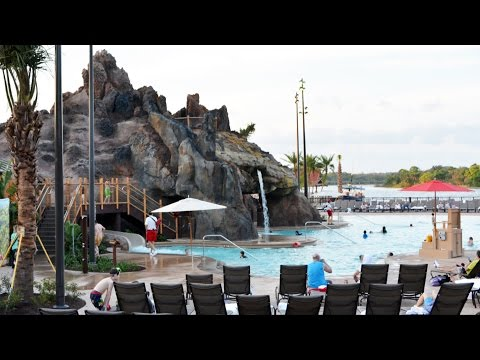 Disney's Polynesian Village Resort Lava Pool w/NEW Hot Tub Tour; Kiki Tikis Splash Play Construction